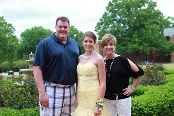 Cordes family on Prom night