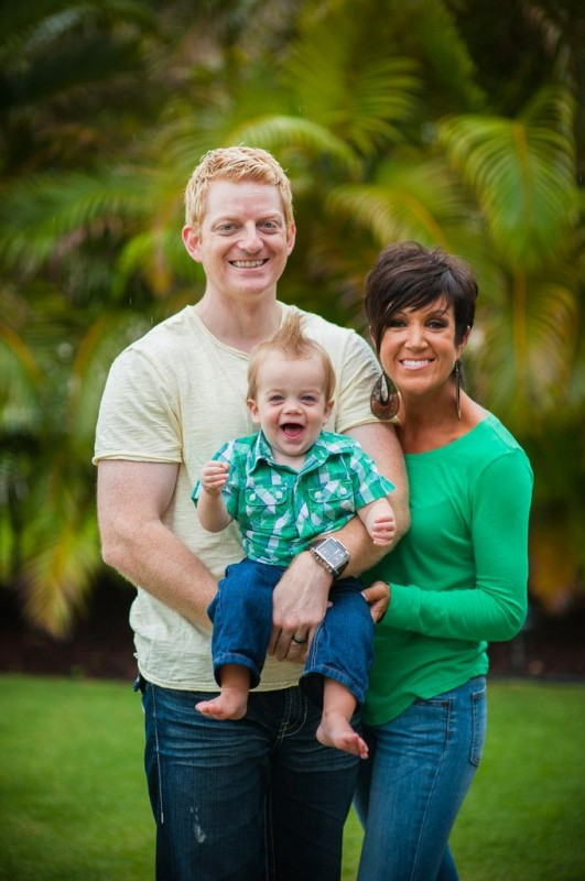 Natalie with her husband, Matt, and their first son, Zade Wilson.
