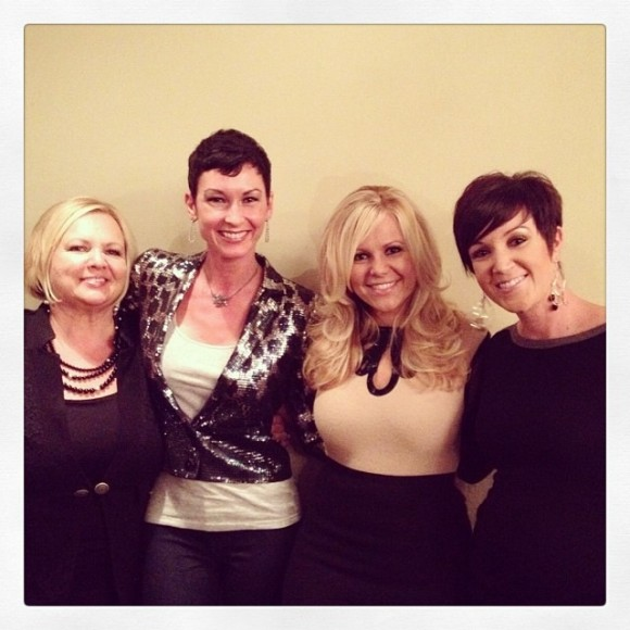 Natalie and her mentors, Kris Fairless and Sarah Robbins, and her best friend and  business partner, Diana Abbley.