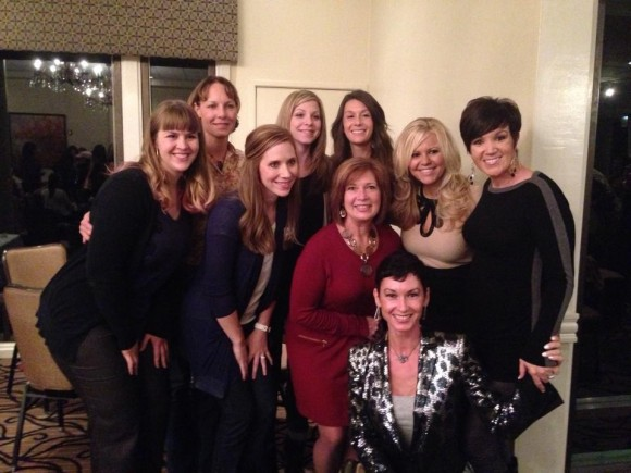 Natalie with her team in 2013.