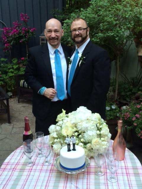 Bonn and Craighton, celebrating their wedding in Toronto.