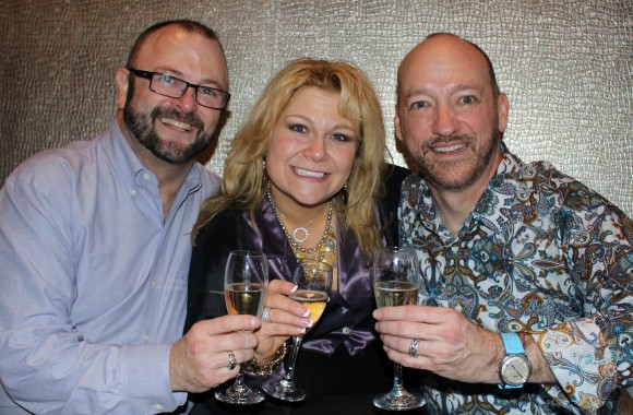 Toasting their engagement with their friend and mentor, RFX Circle Achiever Leigh Barnes.