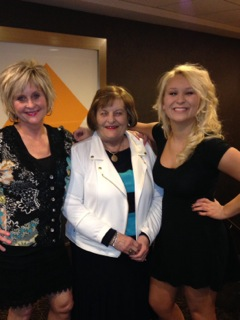 Beth with her mother, Sandy, and her daughter, Caroline.