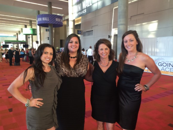 Amy with some of her team members, Alicia, Shannon, and Linda, at Convention.