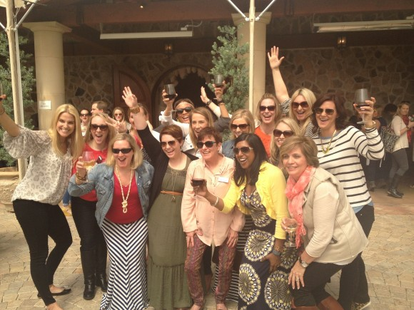 Molly and a few of her favorite R+F people in Sonoma