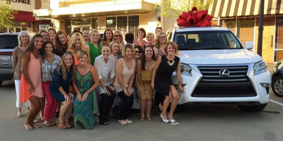 A portion of Britney's team of leaders at her Lexus Celebration.