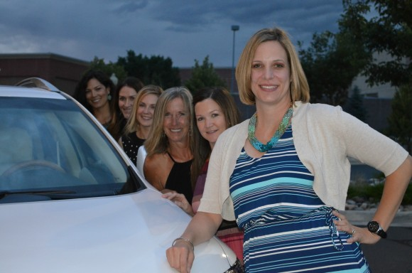 Melissa with her team at her Lexus celebration