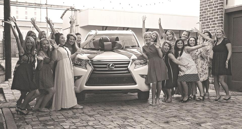 R+F Consultant Jamie Williamson celebrating Lexus