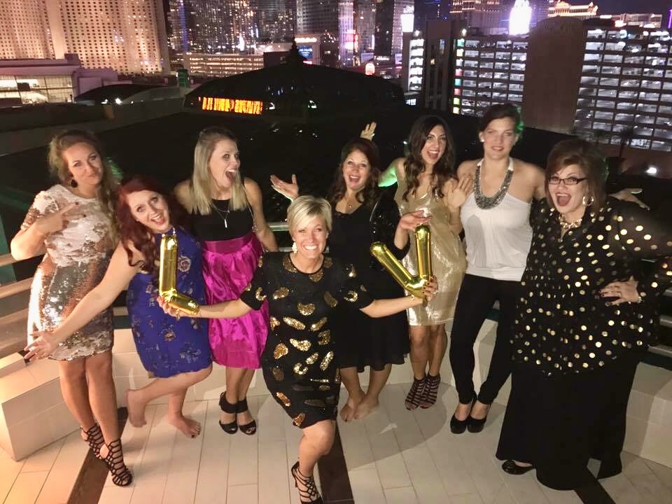 R+F Consultant Morgan Anderson and friends in Vegas