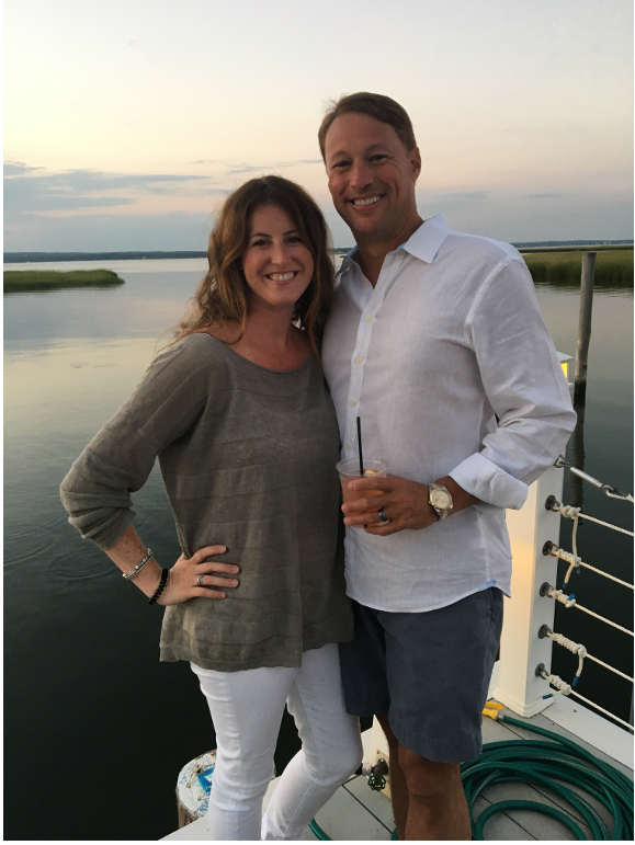 Kelly Sleece and her husband Michael in the Hamptons