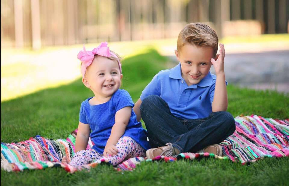 My Why: Cecelia  at 1 year  and Blake at 3.5 years