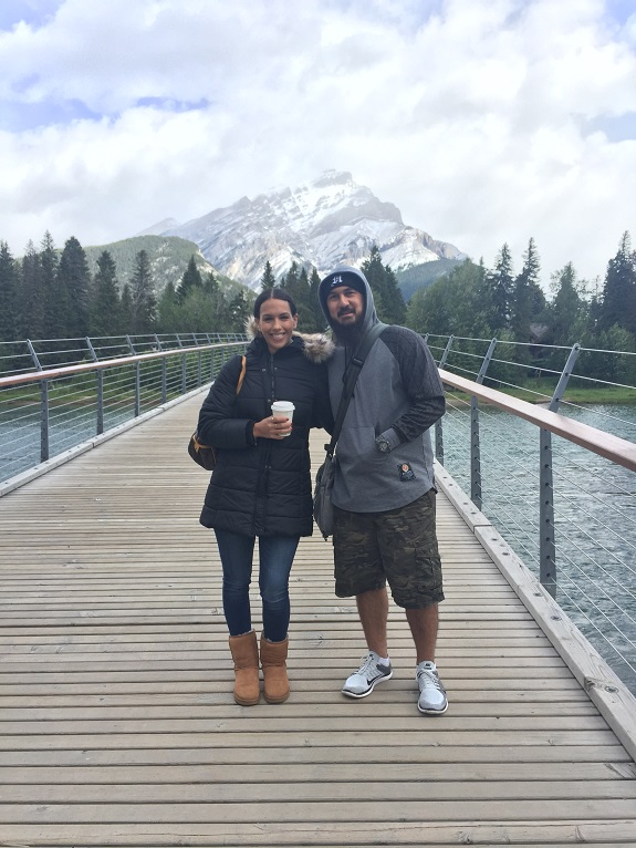 Leah and her husband, Jeremy,  Leading the Way in Banff, Canada