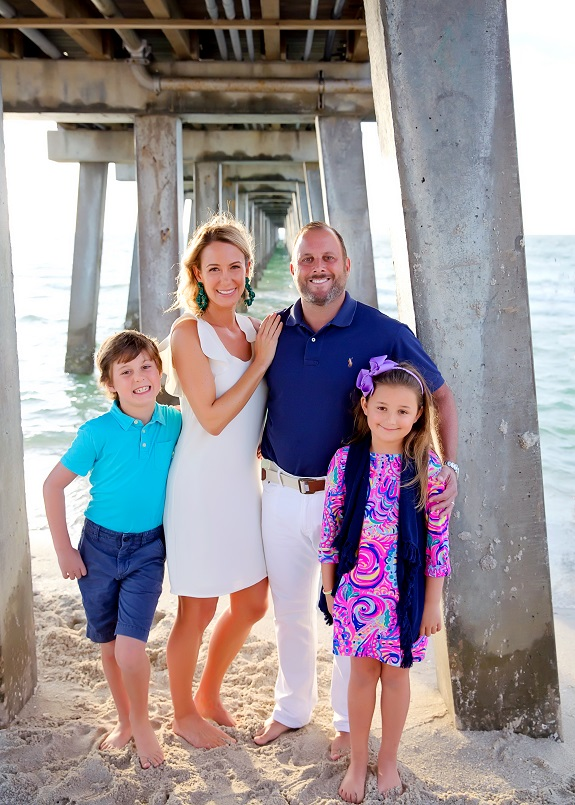 Gina and her family in Naples Florida