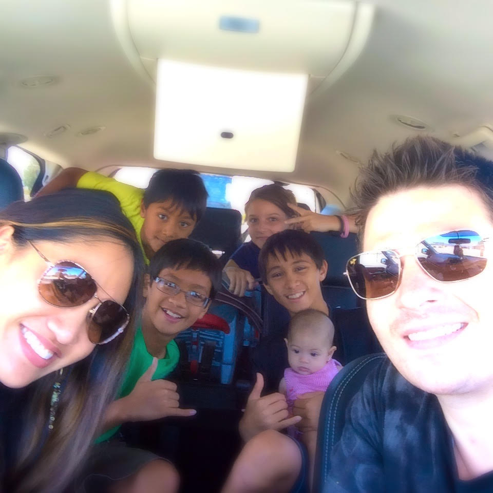 The Sagarese Family on vacation. They now have the time freedom to choose when to go!