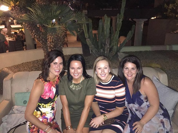 Jennifer in Scottsdale, Arizona in March 2017 with Canada's Regional Directors (from left to right- Chelsea Ramage, Victoria Wince, & Kerri Stone). This was an all-expenses paid luxury trip earned through the R+F Lead The Way incentive program.