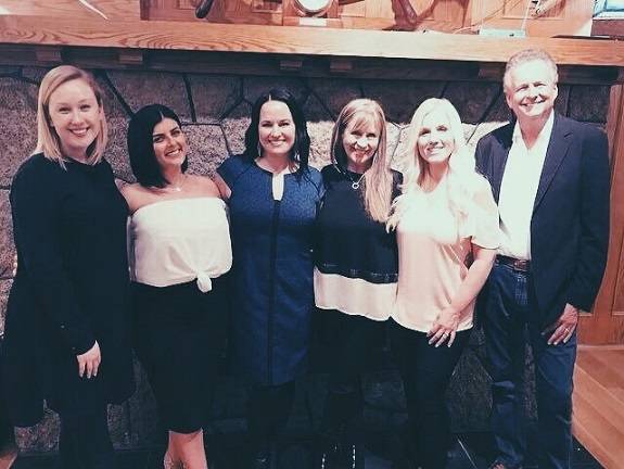 Regional Director Victoria Wince, Dani Wilder, Regional Director Chelsea Ramage, RFx Circle Laurie & Gary Dittrich, and LV Simone Conner at the Royal Victoria Yacht Club for a corporate event.