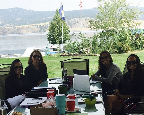 R+F Consultant Jill Edgell Smith working with friends