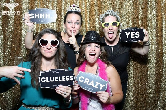 Kelly having a blast with her sponsor, Kate Hester and sideline sisters, Loren Faye and Lisa Gilmore.
