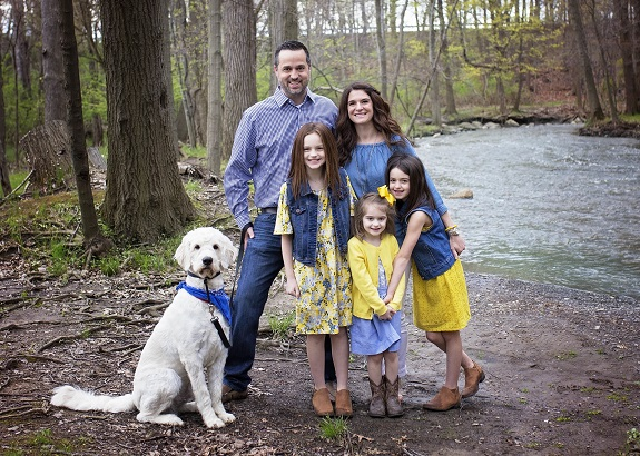R+F Consultant Lisa Gilmore with her family