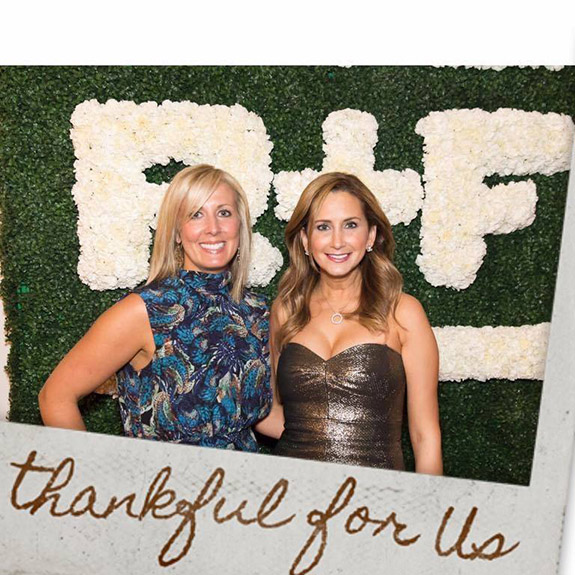 R+F Consultant Courtney Yount with Jen DiVittorio