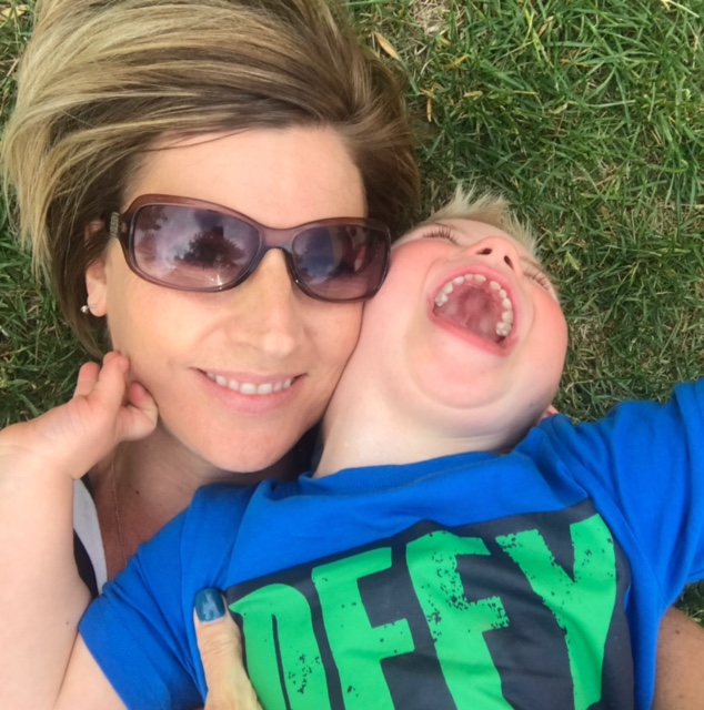 R+F Consultant Christie Lang and her son