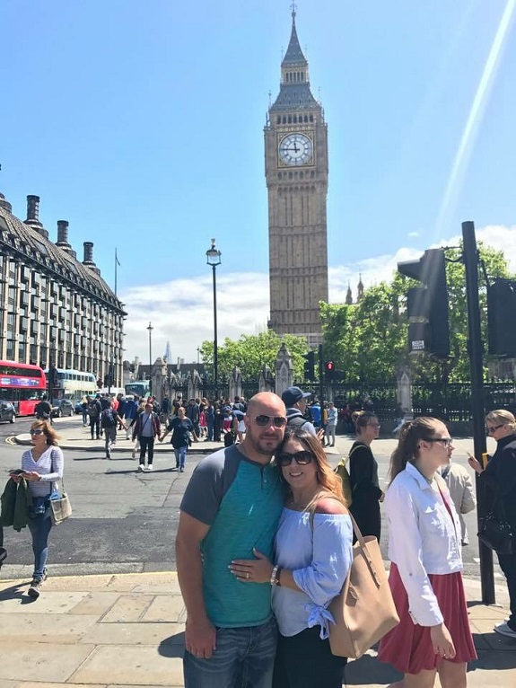 R+F Consultant Jessica Zuroff traveling with her husband