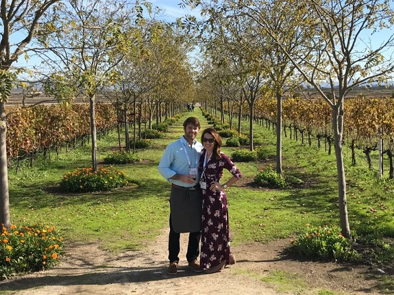 R+F Consultant Kelly Graven with her husband in Napa