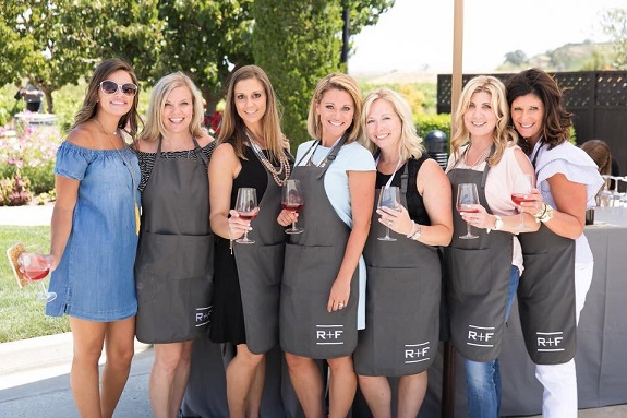R+F Consultant Erin Bugbee and friends in Napa