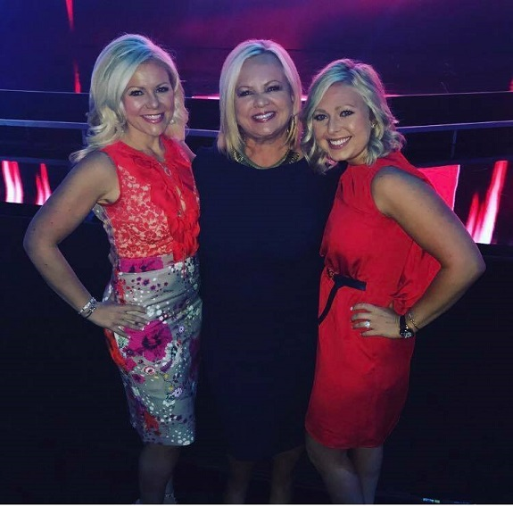 Emily with her mom, Kris Fairless, and sister, Sarah Robbins, at Rodan + Fields Convention 2017