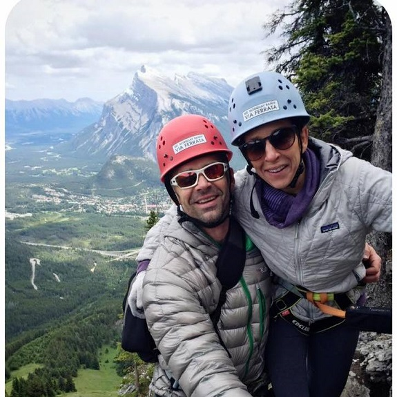 R+F Consultant Julie Strople with her husband in Banff
