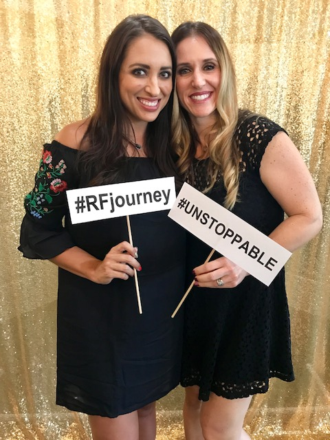 R+F Consultant Monica Wilding with Jennifer Garbick