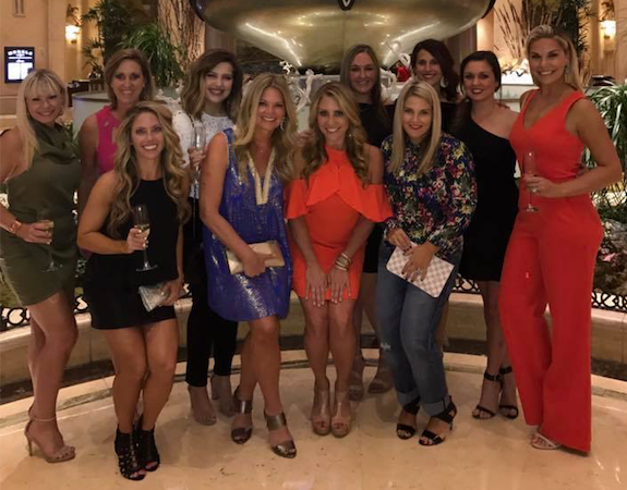 R+F Consultant Melanie Snare with team in Vegas