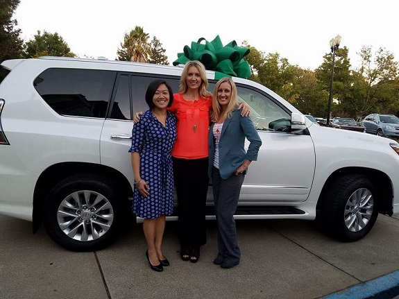 R+F Consultant Michelle Carnahan and friends celebrating Lexus