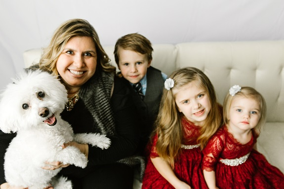 R+F Consultant Karla Gust with kids